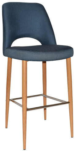 ALBURY STOOL 75CM OAK METAL LEG - Richmond Office Furniture