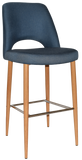 ALBURY STOOL OAK METAL LEG 750 - Richmond Office Furniture