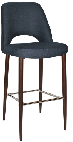 ALBURY STOOL 75CM WALNUT METAL LEG - Richmond Office Furniture