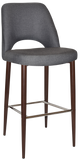 ALBURY STOOL WALNUT METAL LEG 750 - Richmond Office Furniture