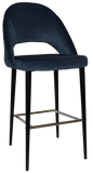 Chevron Stool Black Metal Leg - Richmond Office Furniture