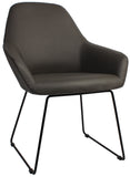 BRONTE TUB CHAIR SLED METAL BASE - Richmond Office Furniture