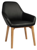 BRONTE TUB CHAIR LIGHT OAK TIMBER LEG - Richmond Office Furniture
