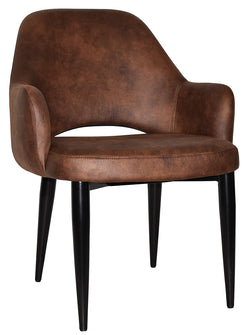 ALBURY XL ARM CHAIR BLACK METAL LEG - Richmond Office Furniture