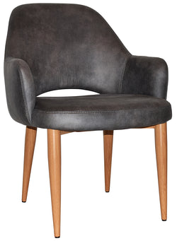 Albury XL Arm Chair Oak Metal Leg - Richmond Office Furniture