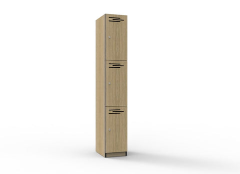 LOCKER MELAMINE THREE DOOR - Richmond Office Furniture