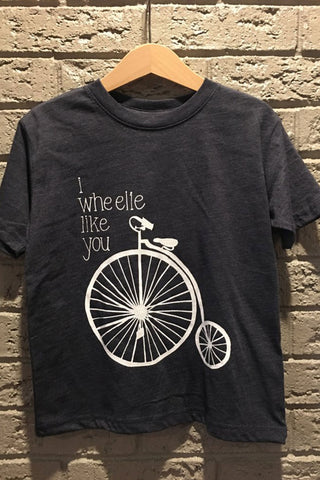 i wheelie like you Navy Child Tee
