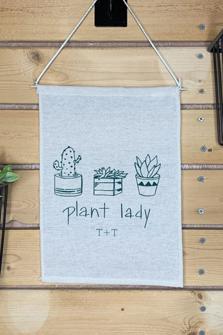 Plant Lady Canvas Banner