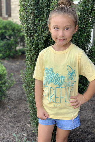 Glow like a Firefly Banana Cream Child Tee