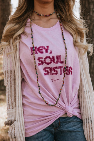 Hey, Soul Sister Lilac Tee - TUCKED & THREADED
