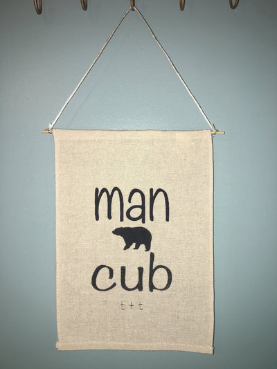 Man Cub Canvas Banner - TUCKED & THREADED