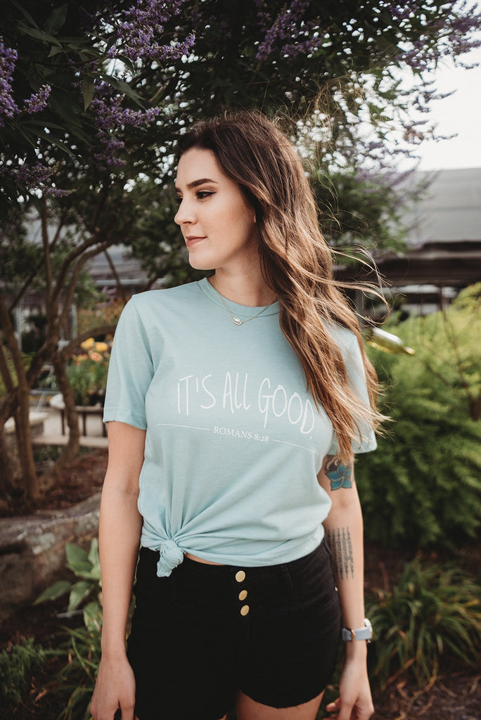 It's All Good Seafoam Tee