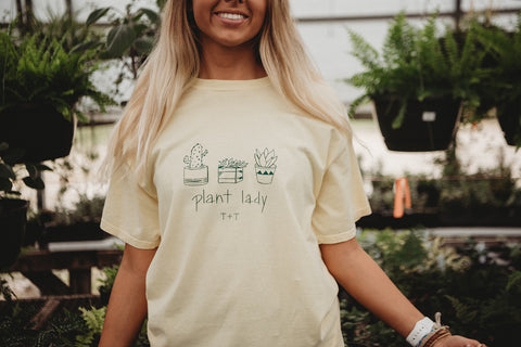 Plant Lady Yellow Vintage Jersey Tank or Tee
