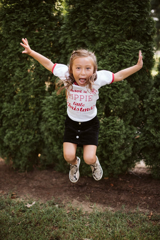 Have a Hippie little Christmas Red Ringer Child Tee