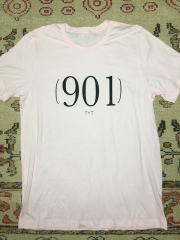 Area Code 901 Soft Pink Tee - TUCKED & THREADED