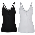 Lace Nursing Camisole 2pk Bundle (Black-Grey)