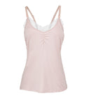Dusty Rose and White Lace Nursing Camisole