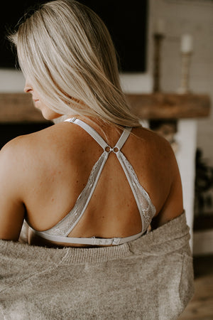 Nursing Bralette French Grey and Black Bundle (2pk)