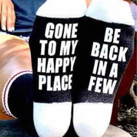 Funny Socks - Gone to my happy place