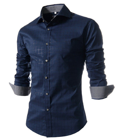 Plaid Shirt (Navy)