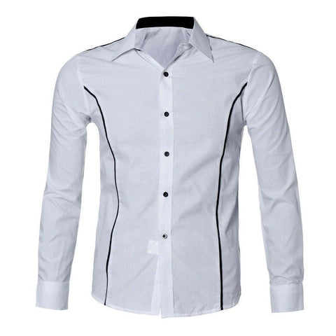 Altitude Slim and Tall Deluxe Illusion Shirt (White)