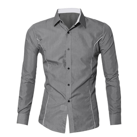 Altitude Slim and Tall Deluxe Illusion Shirt (Silver)