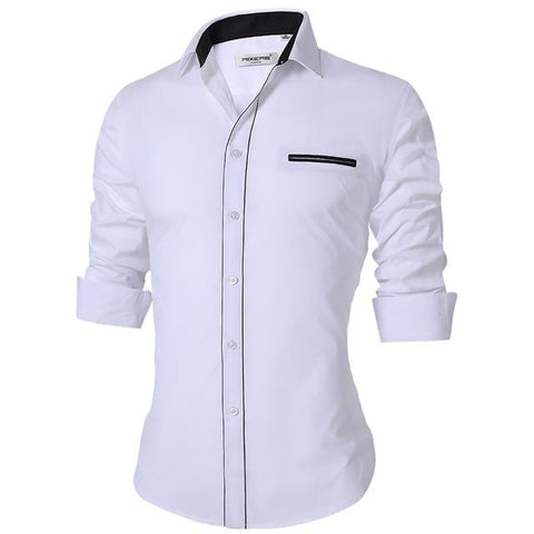 Jayton Shirt (White & Black)