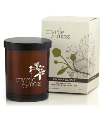 MYRTLE AND MOSS CITRUS SOY CANDL