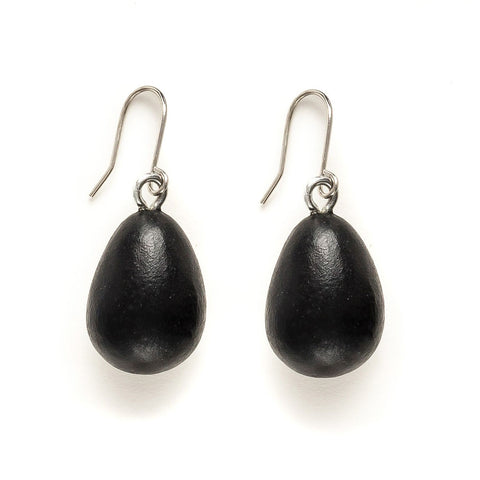 BLACK SEED DROP EARRING