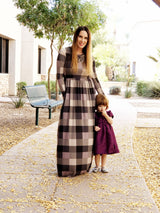 PLAID POCKET MAXI