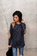 HENSLEY POLKA DOT PATCH TOP
