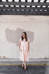 FAWN FLORAL SWING DRESS-BLUSH