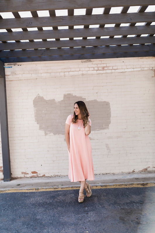 SIERRA SWING POCKET DRESS-BLUSH