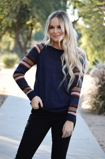 All About Winter Sweater-Navy