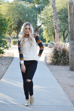 All About Winter Sweater-White