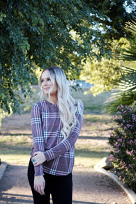 Maryn Plaid Top