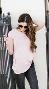 KIMBERLY KNOT TOP-PINK