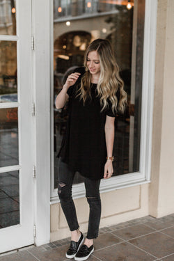 BACK TO BASICS TUNIC-BLACK