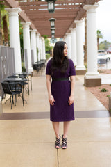 CENTER OF ATTENTION DRESS-BLACKBERRY