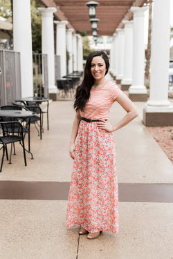 BLOOMING FLOWERS MAXI DRESS