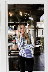 ON THE GO SWEATER-BLUE STRIPE