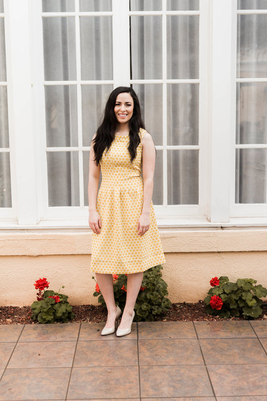 SUNSHINE DOT DRESS