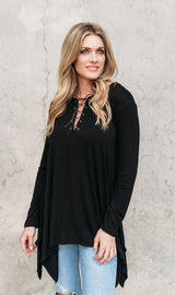 LAUREN LACE UP TUNIC