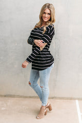 ELSA ELBOW PATCH TOP