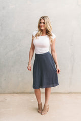 ELLIPSIS SKIRT-NAVY
