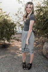 MAIN EVENT SKIRT-GREY