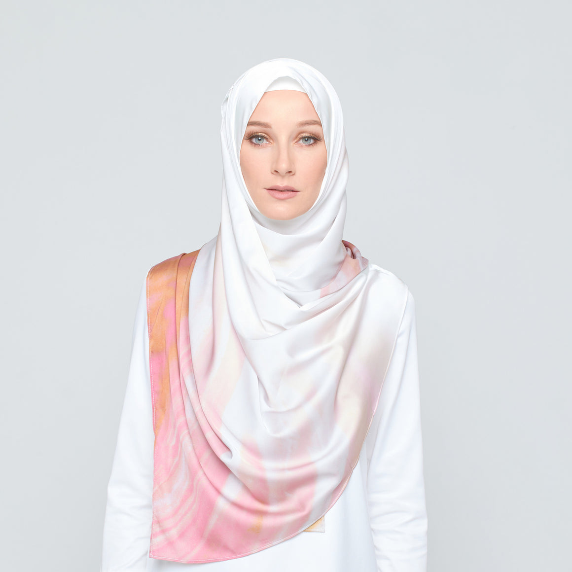GAYA Marble Luxe Rose Gold Scarf