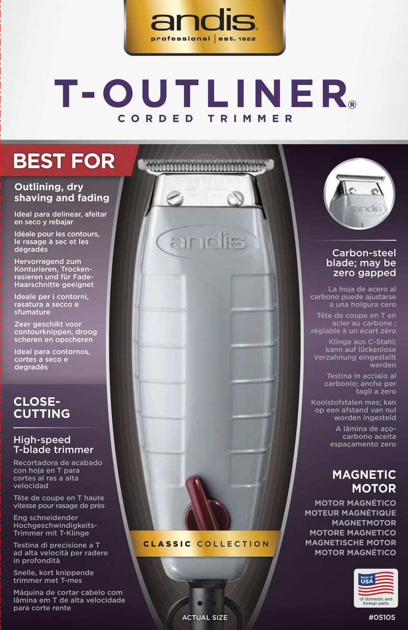 Andis T- Outliner Professional Trimmer | Unisex Groom