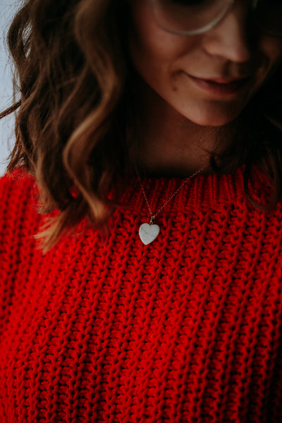 LIMITED EDITION || Marble Heart Necklace - BORCIK