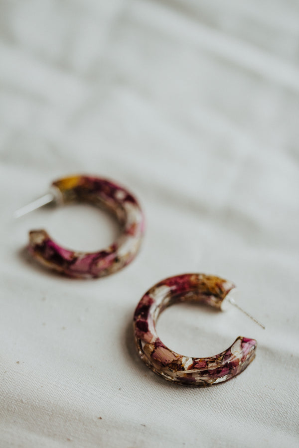 Pressed Flower Hoops